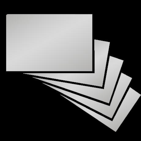 Visitenkarten   Heißfolienprägung silber   beidseitig